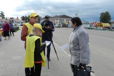 Волонтеры Бежецка и Торжка провели акцию «Территория выборов»