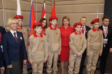 Юнармейцы из Тверской области посетили первую Новогоднюю елку