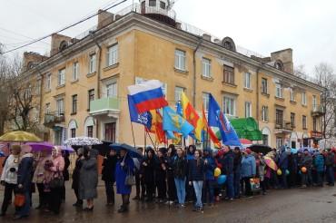 В День весны и труда в городе Бологое прошло праздничное шествие