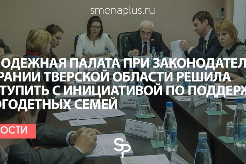 Молодежная палата при Законодательном Собрании Тверской области решила выступить с инициативой по поддержке многодетных семей