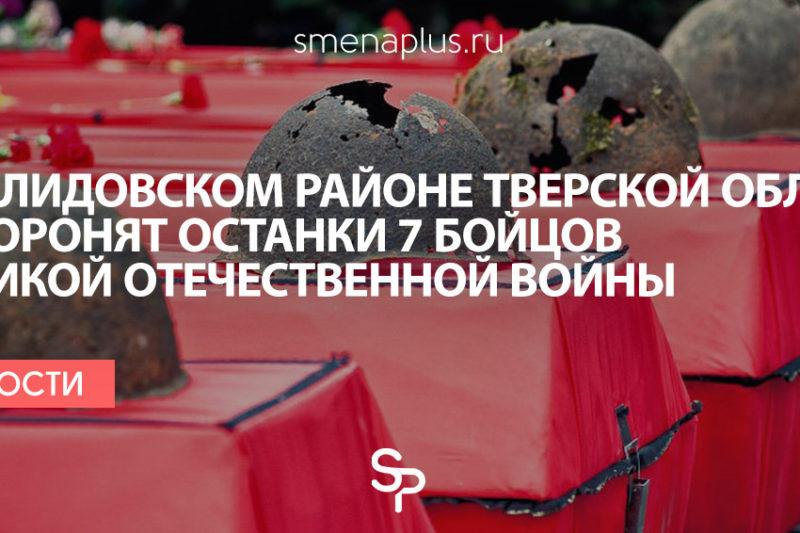 В Нелидовском районе Тверской области захоронят останки 7 бойцов Великой Отечественной войны